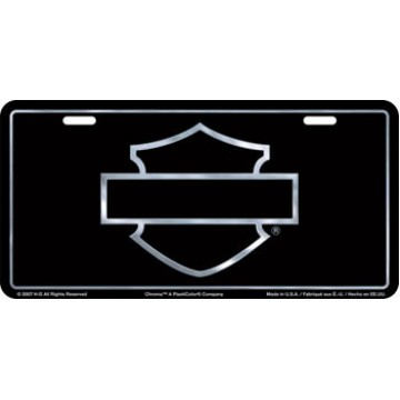 Harley-Davidson Silver Silhouette License Plate