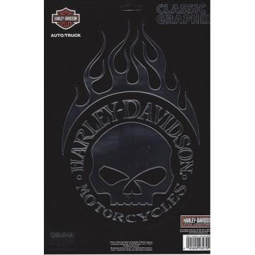 Harley-Davidson Flaming Skull Logo large Decal