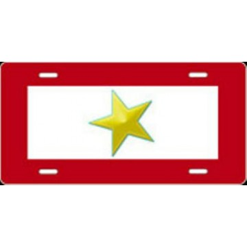 Gold Star Airbrush License Plate