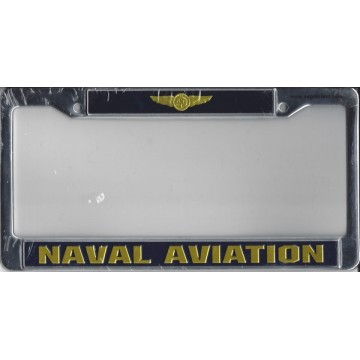 U.S. Navy Aviation Chrome License Plate Frame