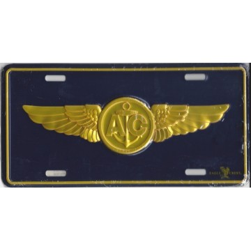 Navy Aircrew Metal License Plate