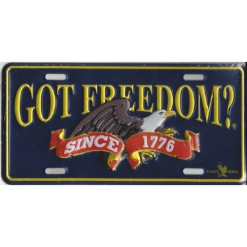 Got Freedom? Since 1776 Metal License Plate