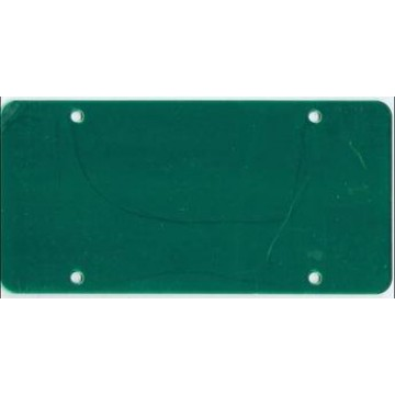 Green Acrylic Mirror License Plate