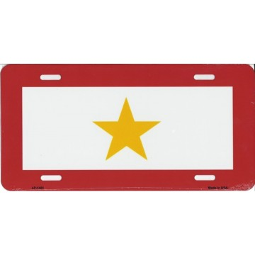 Gold Star Metal License Plate