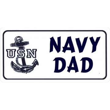 Navy Dad Photo License Plate