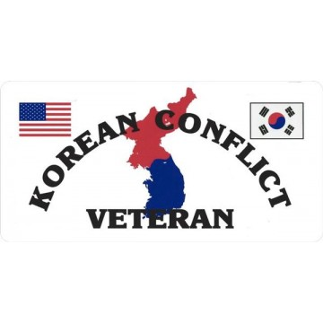Korean Conflict Veteran Photo License Plate
