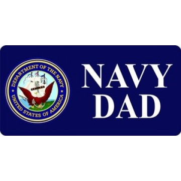 Navy Dad With Logo Photo License Plate