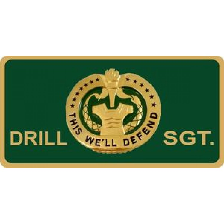 Drill Sergeant Photo License Plate
