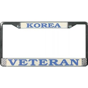 Korea Veteran Chrome License Plate Frame