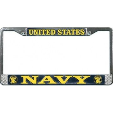 U.S. Navy Chrome License Plate Frame