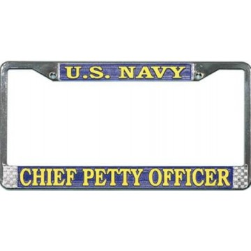 U.S. Navy Chief Petty Officer Chrome License Plate Frame
