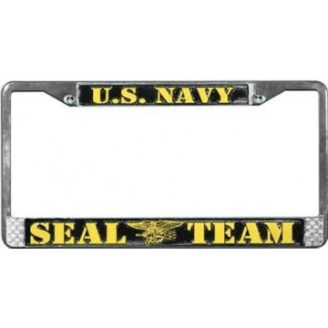 U.S Navy Seal Team Chrome License Plate Frame
