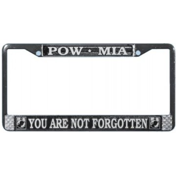 POW MIA Chrome License Plate Frame