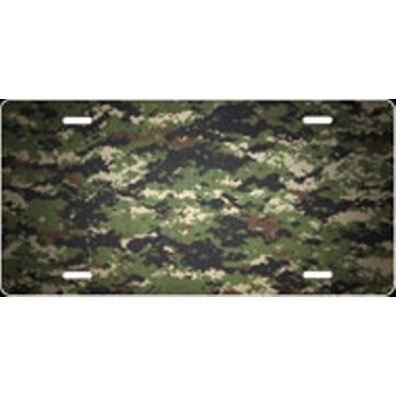 Digital Camo Airbrush License Plate