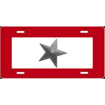 Gray Star Airbrush License Plate