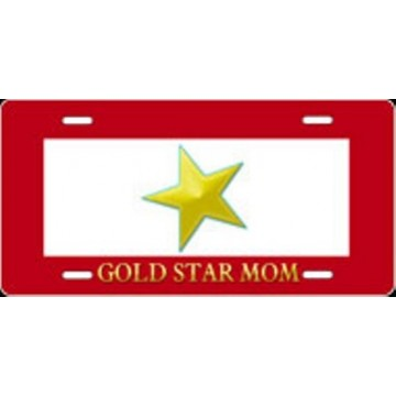 Gold Star Mom Airbrush License Plate