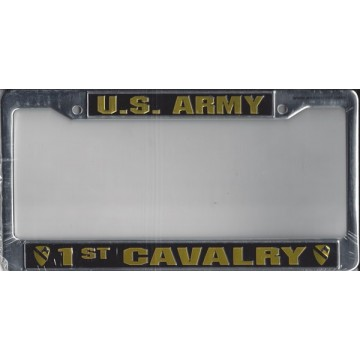 U.S. Army 1st Cavalry Chrome License Plate Frame