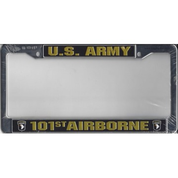 U.S. Army 101st Airborne Chrome License Plate Frame