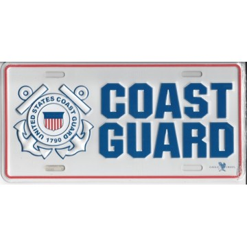 Coast Guard Metal License Plate