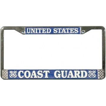 U.S. Coast Guard Chrome License Plate Frame