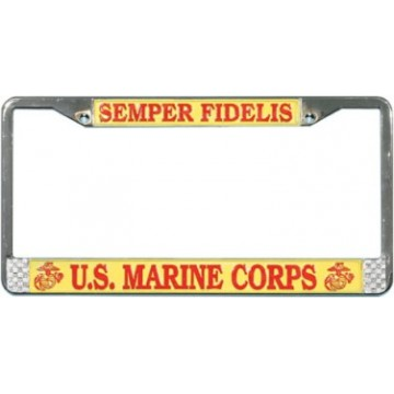 U.S. Marines Semper Fi Chrome License Plate Frame