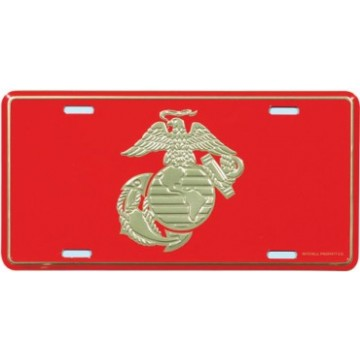 Marine Globe And Anchor License Plate