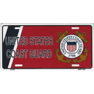 U.S. Coast Guard Metal License Plate