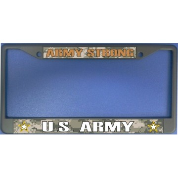 Army Strong Chrome License Plate Frame