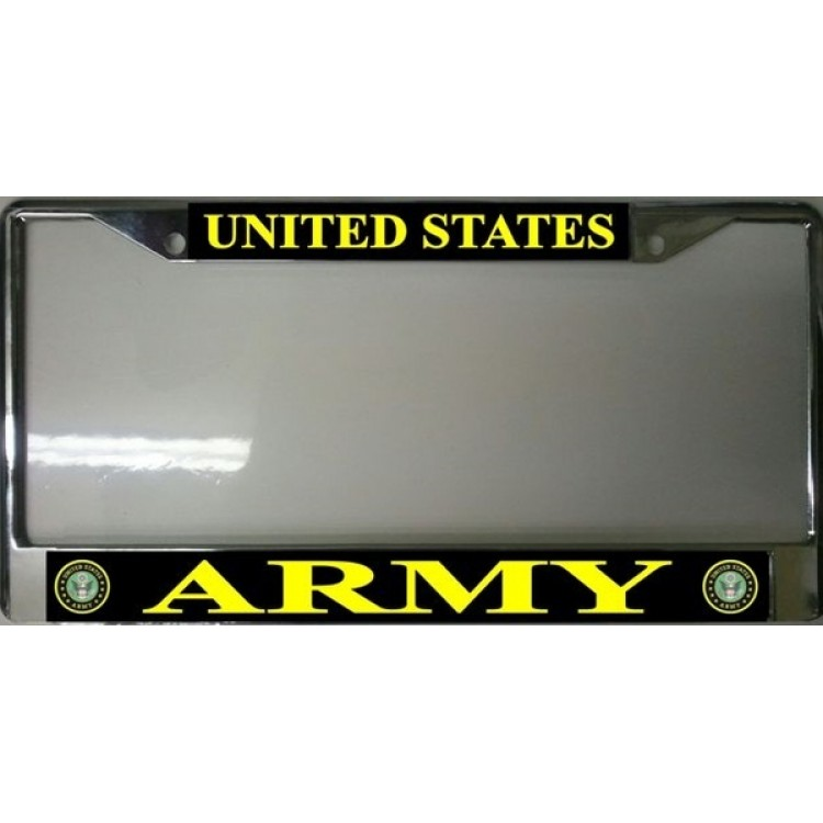 United States Army Chrome License Plate Frame