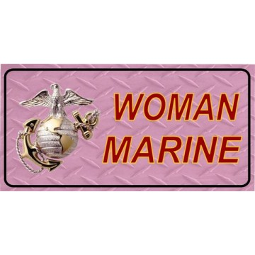 Marine Woman On Pink Photo License Plate