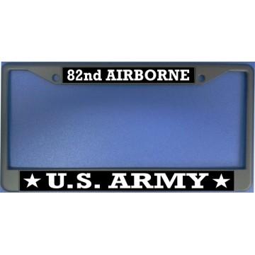 U.S. Army 82nd Airborne Chrome License Plate Frame