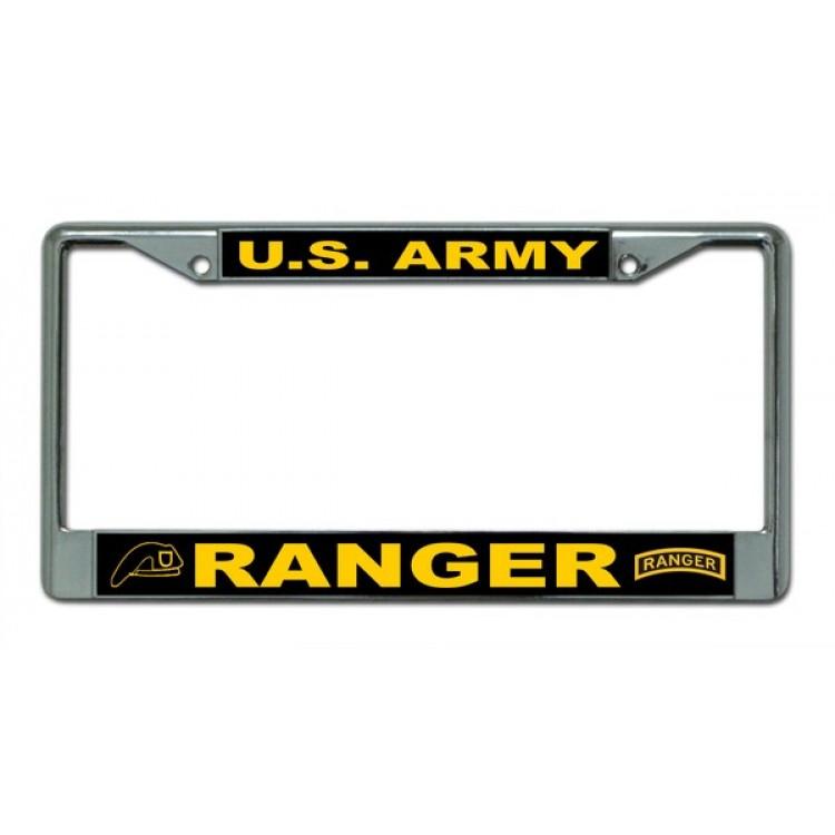 U.S. Army Ranger Chrome License Plate Frame