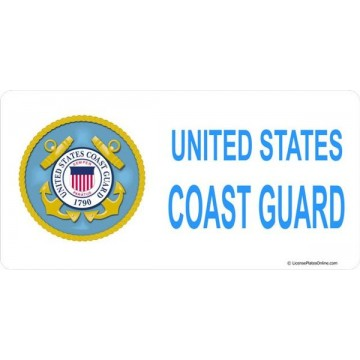 United States Coast Guard Photo License Plate