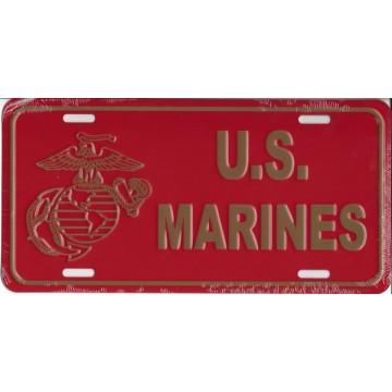 Officially Licensed U.S. Marine Globe And Anchor License Plate
