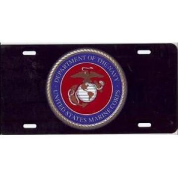 Marine Corps Insignia Airbrush License Plate