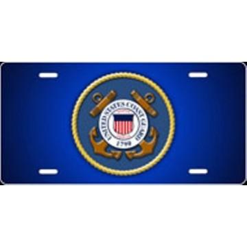 U.S. Coast Guard Insignia Airbrush License Plate