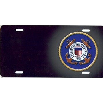 U.S. Coast Guard Offset Airbrush License Plate