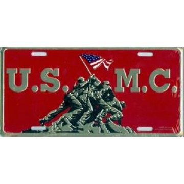 Iwo Jima Marines License Plate