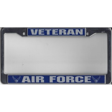 Air Force Veteran Chrome License Plate Frame