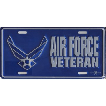 Air Force Veteran Metal License Plate