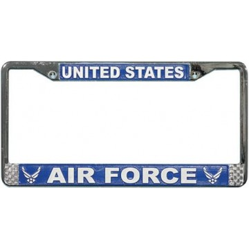 U.S. Air Force Wings Chrome License Plate Frame