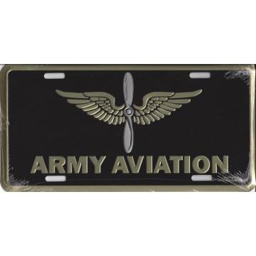 Army Aviation License Plate