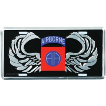 82nd Airborne AA Wings License Plate