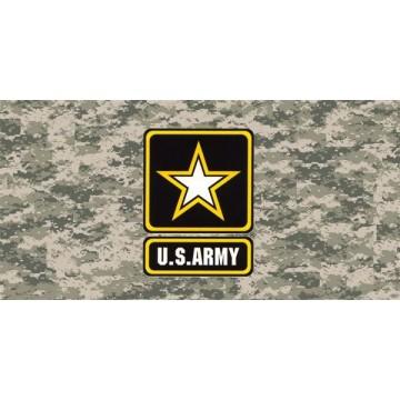 Army Digital Camo Photo License Plate