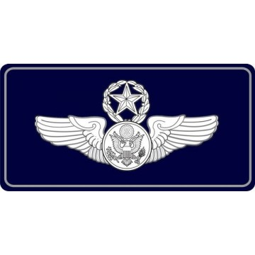 Air Force Chief Air Crew Photo License Plate
