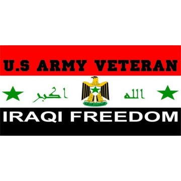 Iraqi Freedom Veteran Photo License Plate