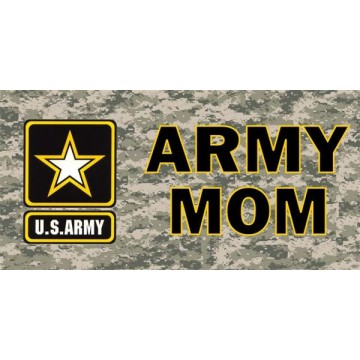 Army Mom Camo Photo License Plate