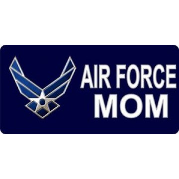 Air Force Mom Photo License Plate