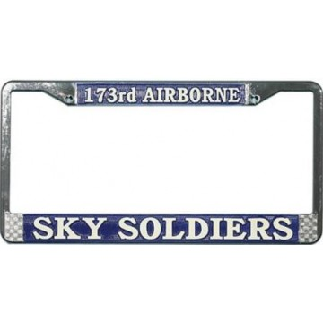 173rd Airborne Sky Soldiers Chrome License Plate Frame