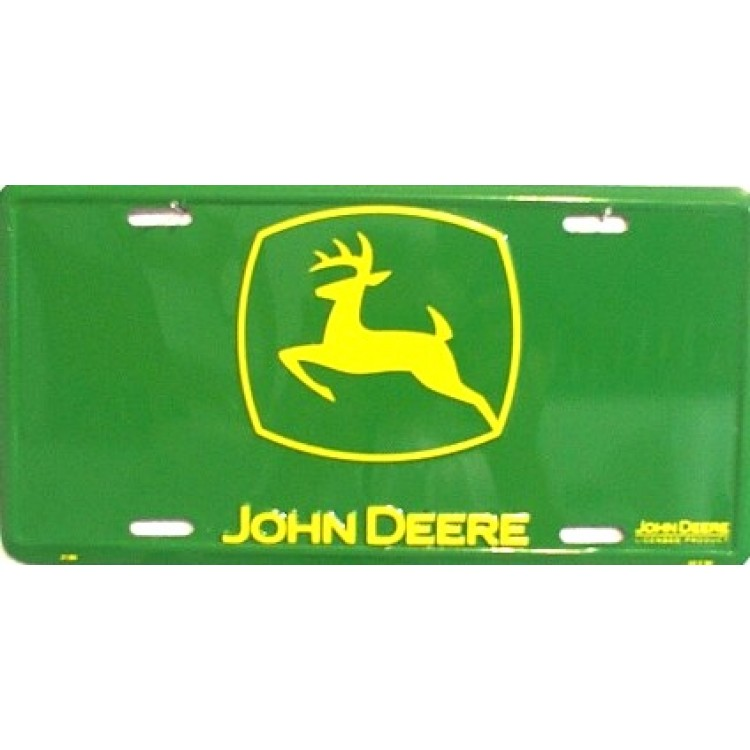 John Deere - Yellow Logo on Green License Plate